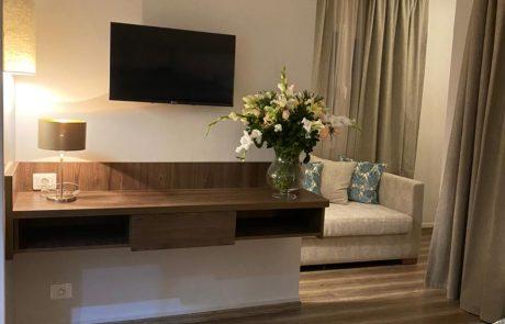 Salon avec télé de resort sousse