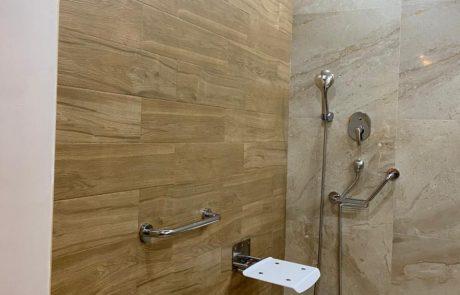 La douche des chambres de resort sousse